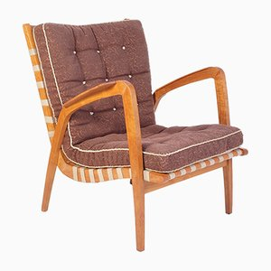 Mid-Century Armchair by Jan Vanek for Krasna Jizba, 1940s