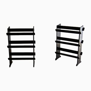 Mid-Century Ebonized Bookshelves, Set of 2