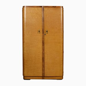 Vintage Art Deco 2-Door Wardrobe
