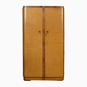 Zweitüriger Art Deco Vintage Kleiderschrank