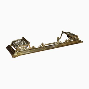 Ringhiera da camino in ottone, XIX secolo