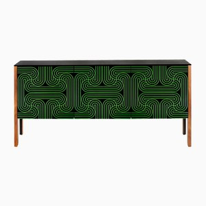 Green 3 Door Loop Sideboard by Coucou Manou for Coucou Manou / Nell Beale