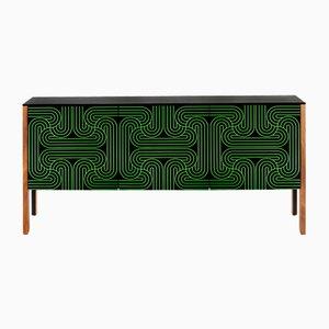 Grünes 3-türiges Loop Sideboard von Coucou Manou für Coucou Manou / Nell Beale