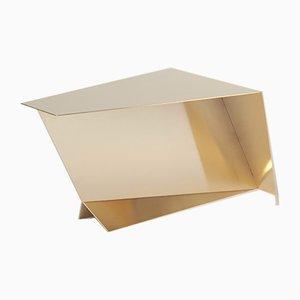 Niedriger vergoldeter Pegasus Couchtisch aus Stahl von 06D Atelier