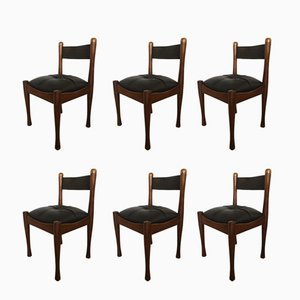 Vintage Dining Chairs by Silvio Coppola for Bernini, 1960s, Set of 6