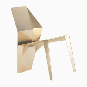 Gold Galvanized Steel Centaurus Chair by 06D Atelier