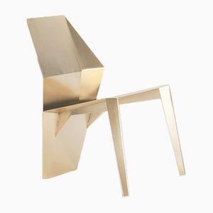 Sedia Centaurus in acciaio zincato e dorato di 06D Atelier