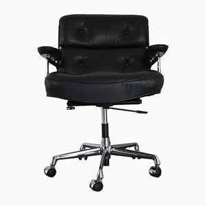 Chrome & Leather ES 104 Lobby Chair by Charles & Ray Eames for Vitra, 1980s