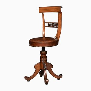 Vintage Rosewood Revolving Dressing Table Chair