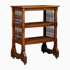 Gothic Revival Oak Book Table