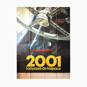 French 2001 Space Odyssey Movie Poster, 1968