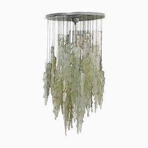 Lámpara de araña Mid-Century de vidrio