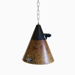 Lampe à Suspension Industrielle Vintage en Fibre de Verre, Allemagne