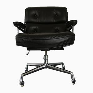 Chrome & Leather ES 104 Lobby Chair by Charles & Ray Eames for Vitra, 1970s