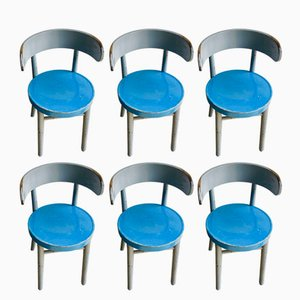 W1 Chairs by Werner West for Wilhelm Schauman, 1930s, Set of 6