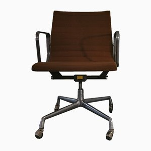 Aluminum & Hopsack EA 117 Desk Chair by Charles & Ray Eames for Herman Miller, 1970s