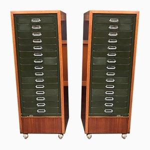 Cassettiere Mid-Century industriali a 15 cassetti di Stor, anni '60