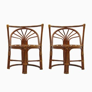Vintage Rattan Chairs, 1970s, Set of 2