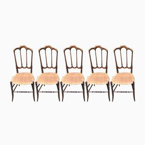 Chiavari Dining Chairs, 1950s, Set of 6
