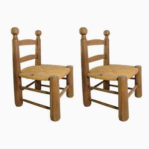 Kleine moderne Stühle, 1950er, 2er Set
