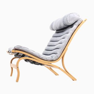 Vintage Lounge Chair in Leather by Arne Norell, 1970s
