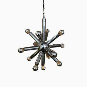 Lampada Sputnik in metallo cromato di Gaetano Sciolari per Boulanger, anni '70