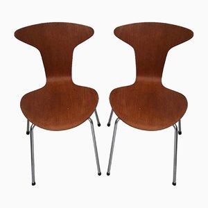 Nr. 3105 Mosquito Stühle von Arne Jacobsen für Fritz Hansen, 1950er, 2er Set