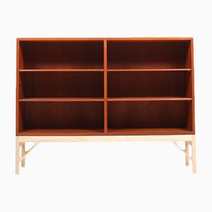 Danish Teak & Oak Bookcase by Børge Mogensen for FDB, 1960s