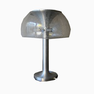Glass and Chrome Floor Lamp from Temde, 1970s