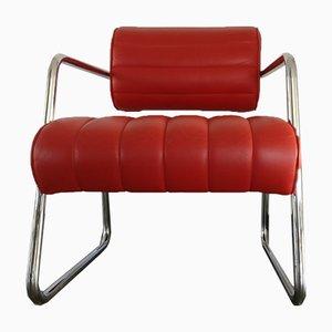 Roter Reu Bonaparte Stuhl aus Leder von Eileen Gray für ClassiCon, 1990er