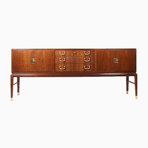Rosewood and Brass Danish Sideboard by Lysberg Hansen & Terp, 1950s