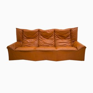 Mid-Century Leather Sofa from Cinova, 1964