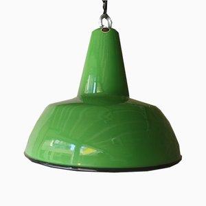 Grüne Vintage Hängelampe von Louis Poulsen, 1960er
