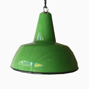 Vintage Green Pendant Light from Louis Poulsen, 1960s