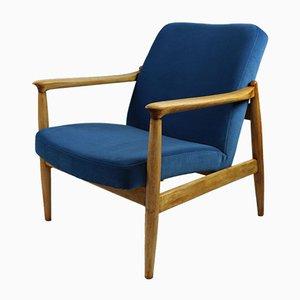 Blauer Vintage Jade Sessel von Edmund Homa, 1970er