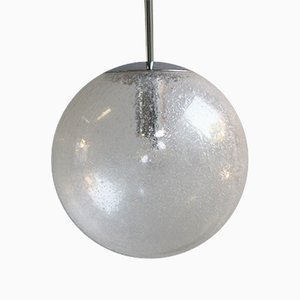 Ice Glass Pendant Light from Peill & Putzler, 1970s