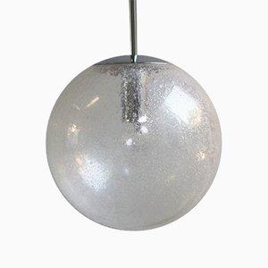 Lampe à Suspension en Verre Givré de Peill & Putzler, 1970s