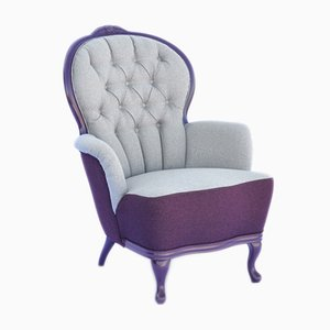 Antique Violet Quilted Armchair