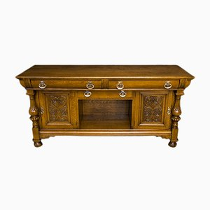 Victorian Oak Sideboard by James Phillip and Sons, 1890s