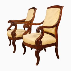 19th-Century French Armchairs, Set of 2