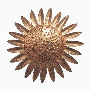 Mid Century Sunflower Sconce, 1950s