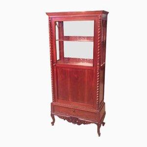19th-Century Dutch Mahogany Display Cabinet