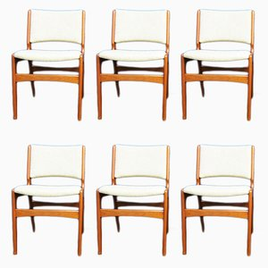 Teak Dining Chairs by Henning Kjaernulf, 1960s, Set of 6