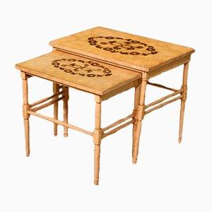 Tables Gigognes Style Antique en Bois Laqué, 1960s