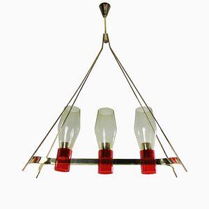 Lampe à Suspension Oblongue, 1950s