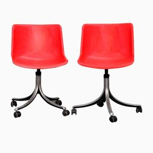 Modus Swivel Chairs by Osvaldo Borsani for Tecno, 1970s, Set of 2
