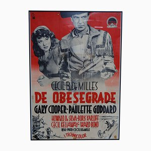 Affiche de Film De Obesegrade ou Unconquered, Suède, 1947