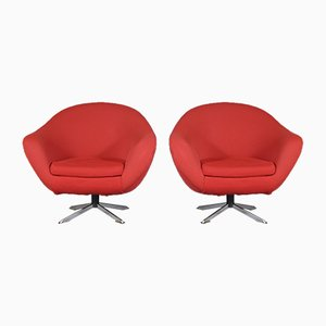 Swivel Lounge Chairs, 1980s, Set of 2