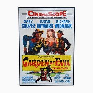Póster estadounidense de la película Garden of Evil, 1954
