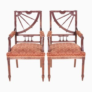 Vintage Art Nouveau Dining Chairs, Set of 2